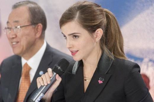 Emma Watson, UN Women Goodwill Ambassador and UN Secretary-General Ban Ki-moon. Credit: UN Photo/Mark Garten
