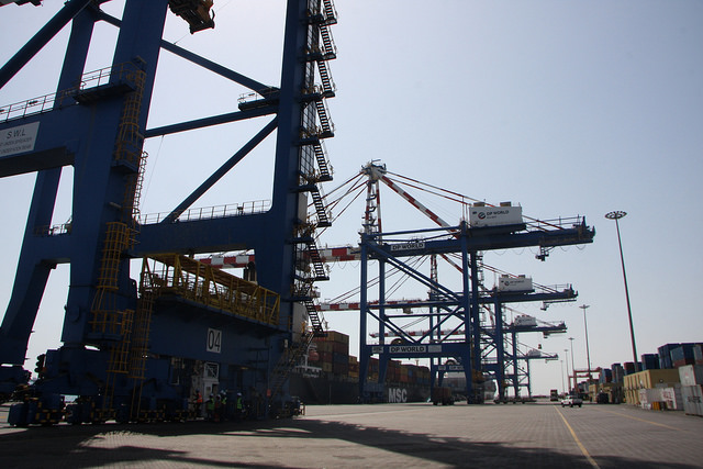 Scene from Djibouti Port. Credit: James Jeffrey/IPS