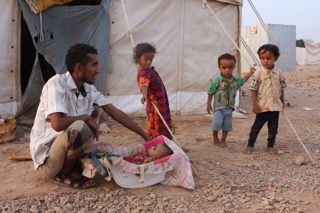 Just over half of the world's refugees are children. Credit: James Jeffrey/IPS.