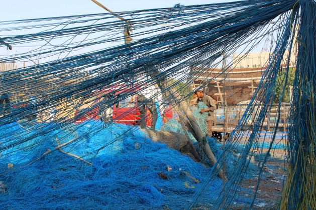 The grave dangers of fishing nets are underestimated. Credit: Zofeen Ebrahim/IPS