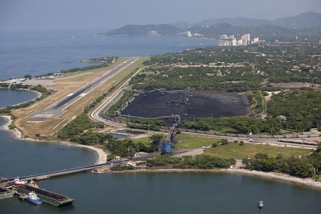 Coal mining company Prodeco's port terminal in the Caribbean city of Santa Marta. Credit: Juan Manuel Barrero/IPS