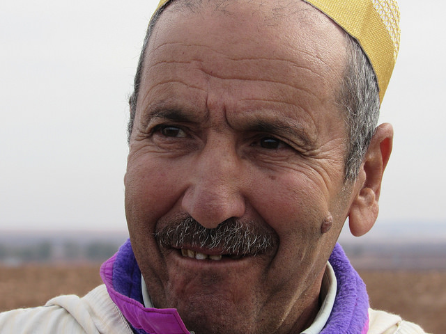 Moroccan farmer Ahmed Khiat, who has struggled with drought but benefitted from a direct seeding program that promotes resilience to climate change. Credit: Fabiola Ortiz/IPS
