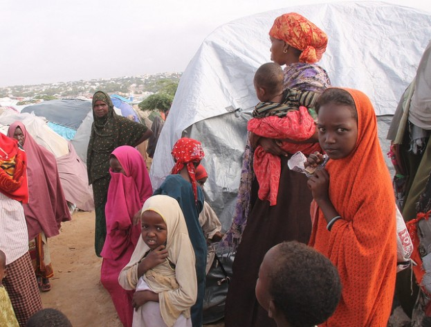 Somalia famine of 2010-2012, camps outside Mogadishu. Credit: IPS