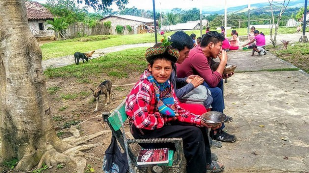 Jhanmarco Flores Huamaní, a 13-year-old Quechua pond-maker in Peru's Andean region of Ayacucho, who came to the Amazon region of his country for the first time, to take part in a youth meeting within the VIII Panamazonic Social Forum. Credit: Milagros Salazar/IPS