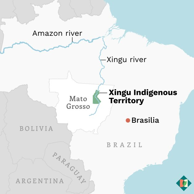 Xingu indigenous territory - Impacts of grain crop cultivation spill into Brazil's oldest indigenous reserve as farmers work with tribes to restore degraded land