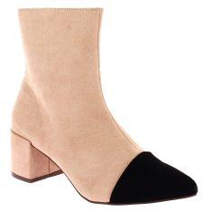 CORINA Γυναικείο Μποτάκι 8856 Μαύρο/Ροζ