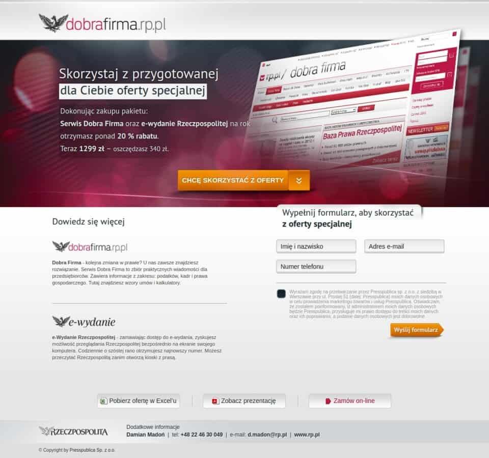 Landingpage<br />Dobra Firma / Poland