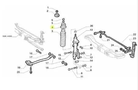 Batente suspensão traseira Alfa Romeo 147 156 60663775