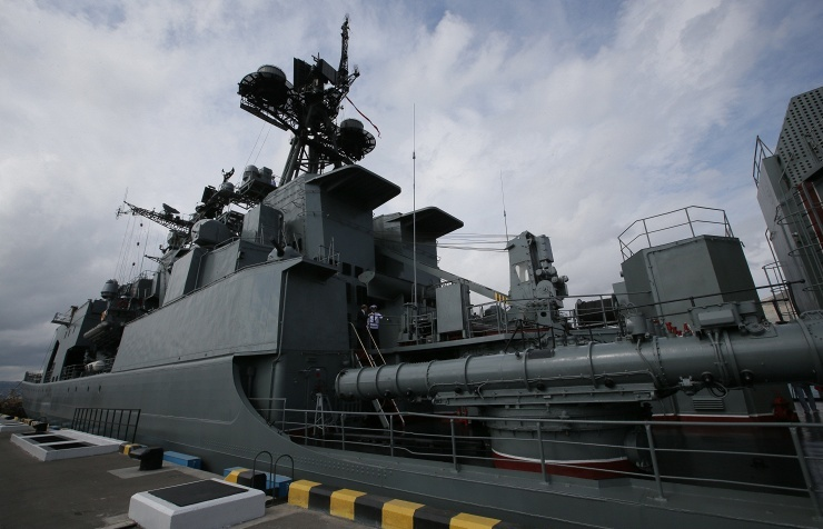 The large anti-submarine warfare ship Vice-Admiral Kulakov