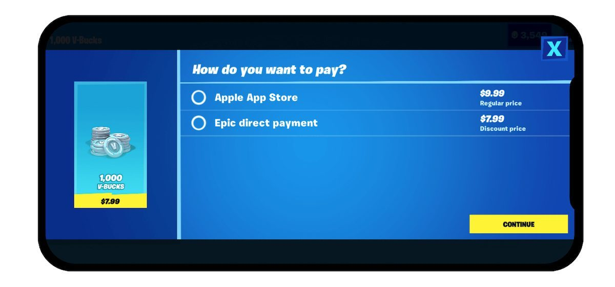 Эпические игры против Apple
