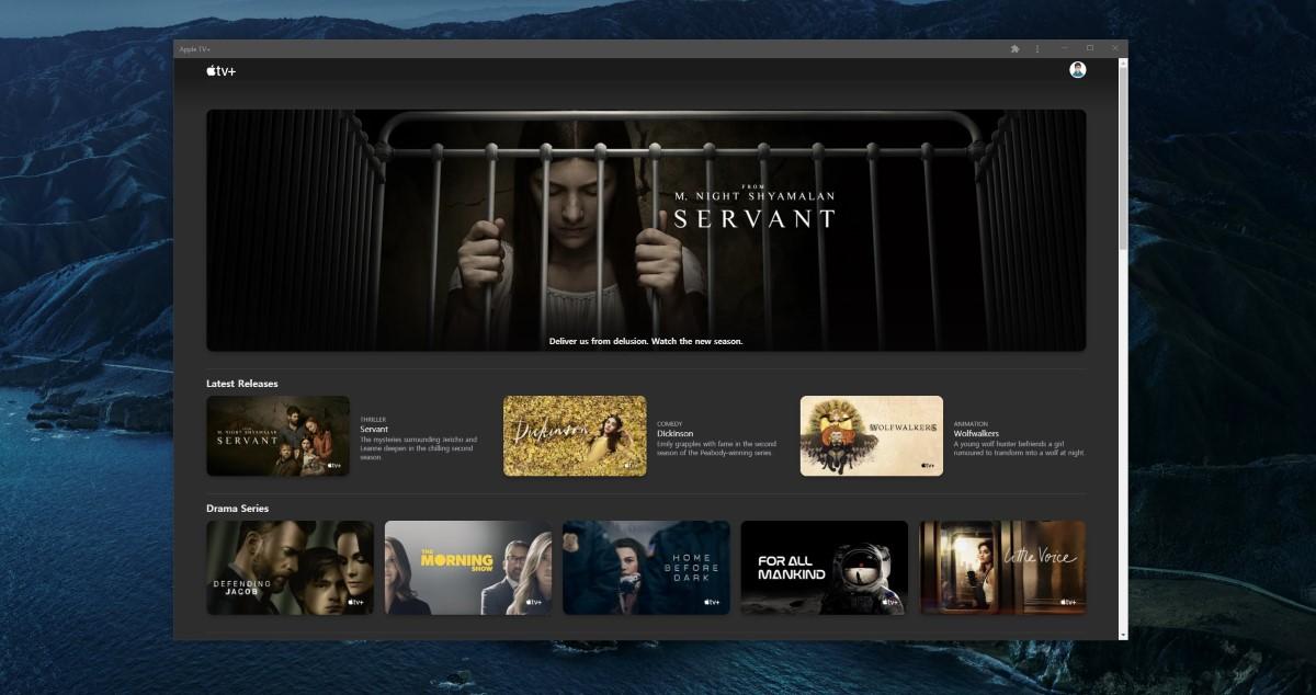 Веб-сайт Apple TV