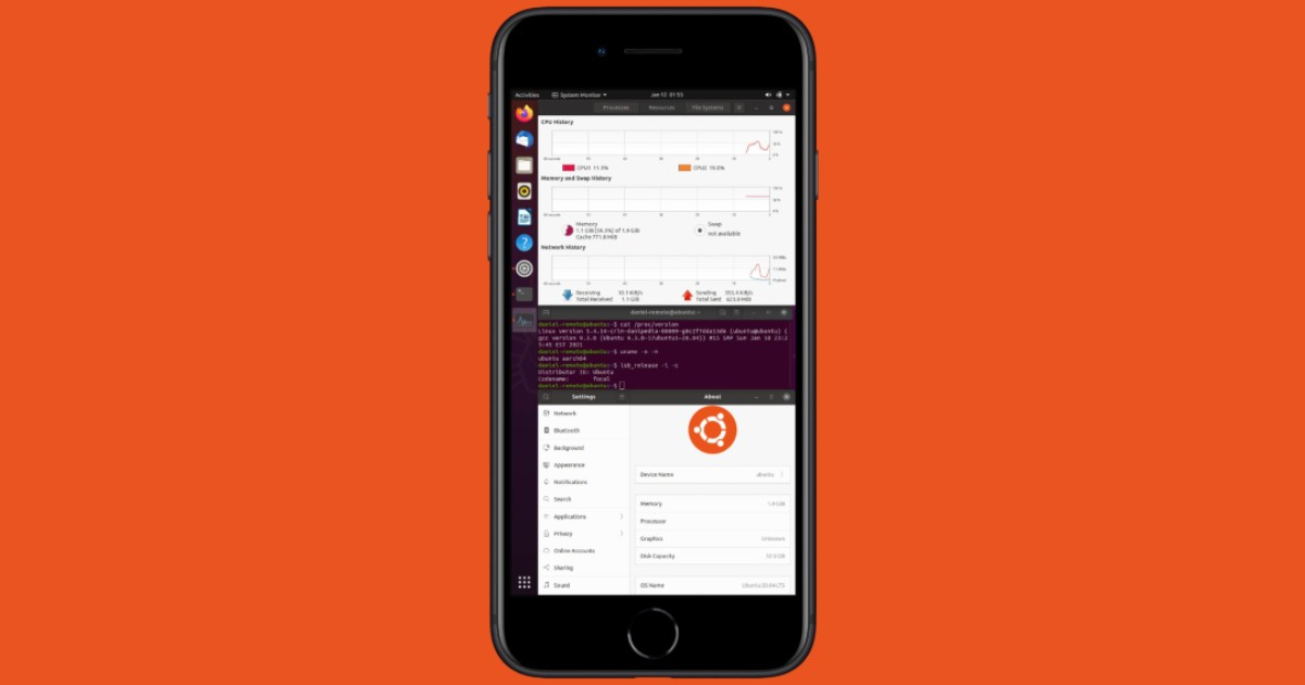Ubuntu на iPhone 7