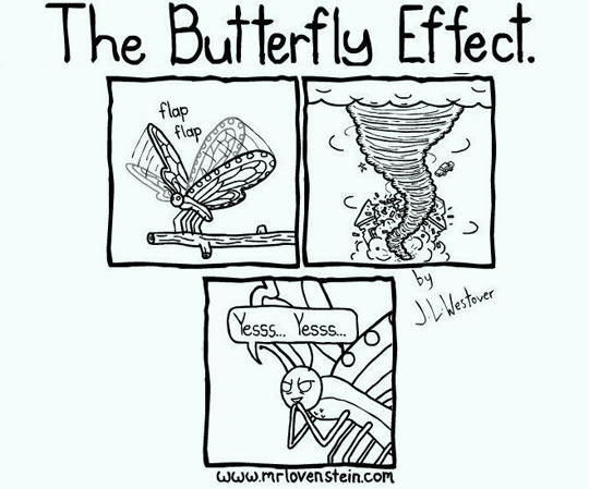 The Butterfly Effect.