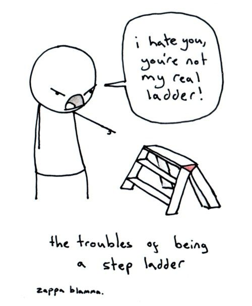 The troubles of being a step ladder.