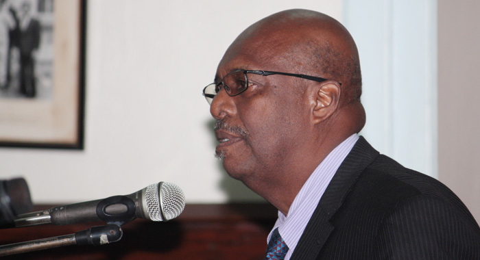 Opposiiton Leader And Mp For East Kingstown, Arnhim Eustace. (Iwn Photo)