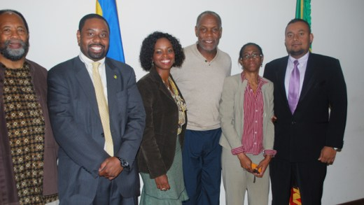 Ambassador Prince And Some Embassy Staff Welcome Mr. Danny Glover And Mr. James Early