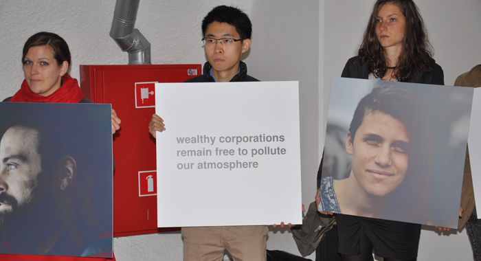 Demonstrators Highlight Climate Change Issues At The Talks In Warsaw.