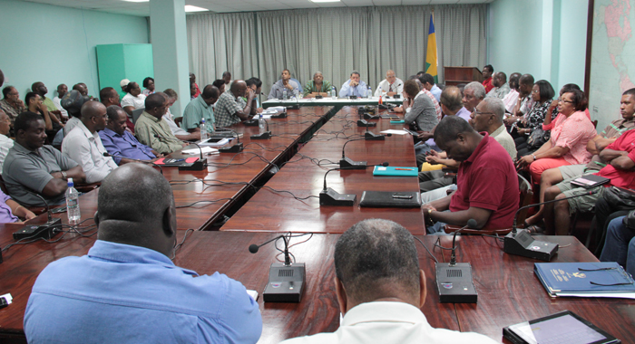 Prime Minister Dr. Ralph Gonsalves Chairs The Meeting In Kingstown On Saturday. (Iwn Photo)