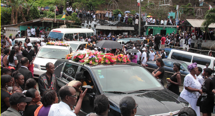 A Large Crowd Attended The Funeral In Rose Bank. (Iwn Photo)