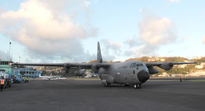 The &Quot;Hurricane Hunter&Quot; Aircraft At E.t. Joshua Airport. (Iwn Photo)