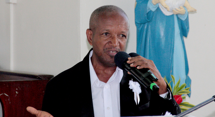 Bryan Alexander Delivers The Eulogy Of E.g Lynch At His Funeral On Saturday. (Iwn Photo)