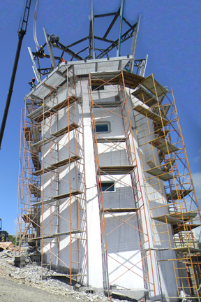 The Control Tower Under Construction At Argyle International Airport. (Aidc Photo)