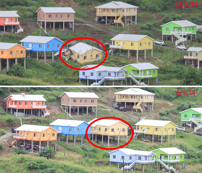 The House After And Before It Collapsed. (Iwn Photos)