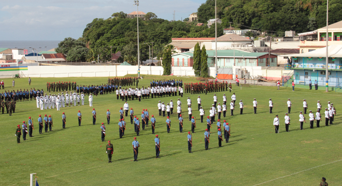 Troops Form &Quot;35&Quot; At The Independence Parade. (Iwn Photo)