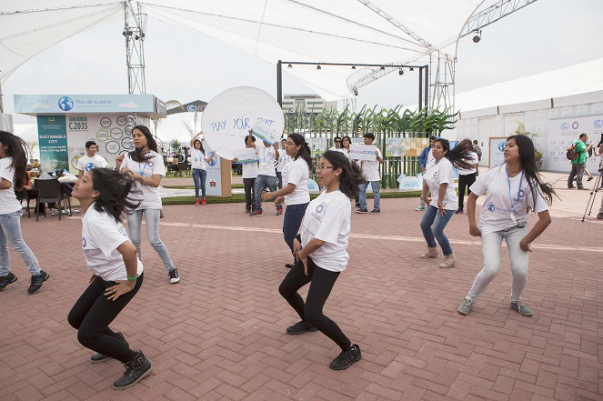 Student Members Of Peru'S &Quot;Play Your Part&Quot; Movement Perform At The Cop20 Venue On Friday, Urging Action On Climate Change. (Photo: Cop20 Lima)
