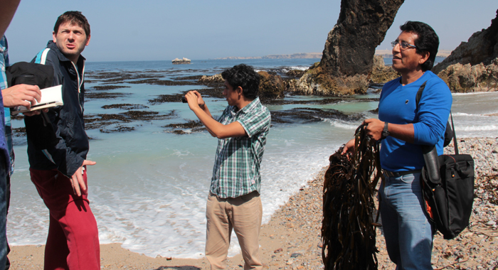 President Of Copmar, Manuela Milla Discuss Kelp With Young Peruvian Chefs. (Iwn Photo)