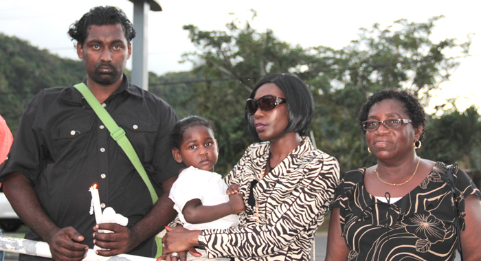 From Left: Ricky Small, Husband Of Missing Woman Jozel Morgan-Small, Morgan-Small'S Sister, Dianna Browne And The Small'S Baby, And Morgan Small'S, Patricia Browne. (Iwn Photo)