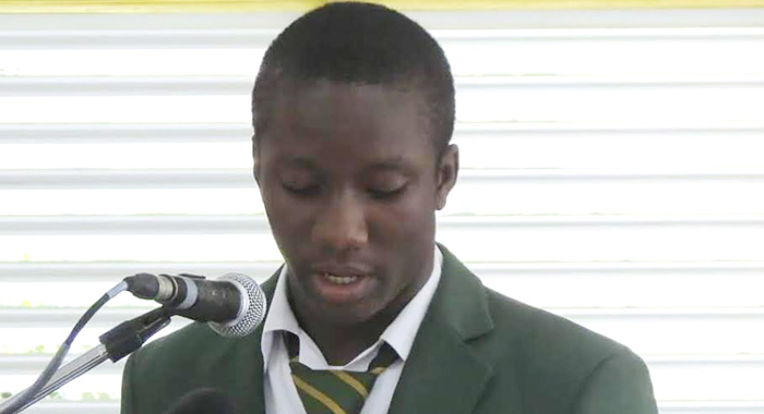 Alron Harry, President Of The St. Vincent Grammar School's Young Leaders 2014-2015.