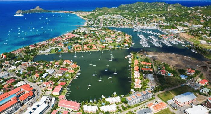 The Rodney Bay Region In St. Lucia.