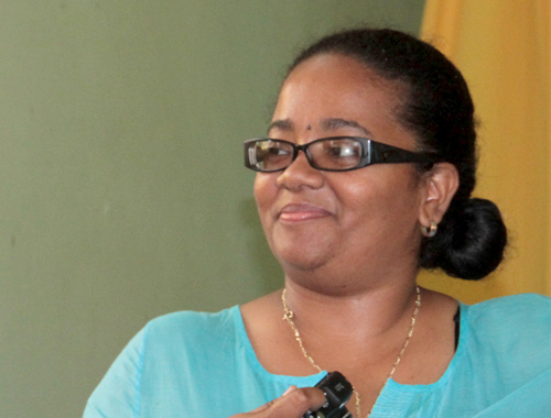 Sen. Gonsalves Wants Opposition Senator, Vynnette Frederick, To Say If She Agrees With The Contents Of The Email. (Iwn Photo(