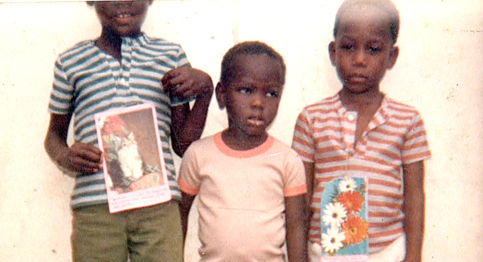 Nick, Centre, Flanked By His Brothers, Myron, Left, And Kenton After Sunday School, In One Of The Family'S Earliest Photos Of Him.