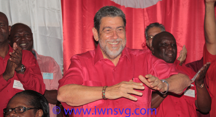Political Leader Of The Ulp, Prime Minister Dr. Ralph Gonsalves Has Sought To Portray His Party As &Quot;The Change&Quot;. (Photo: Zavique Morris/Iwn)