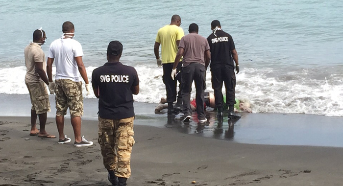 Police Retrieve The Body After It Washed Ashore On Wednesday.