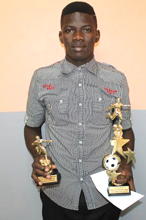 Youth Footballer Of The Year Derom Rouse.