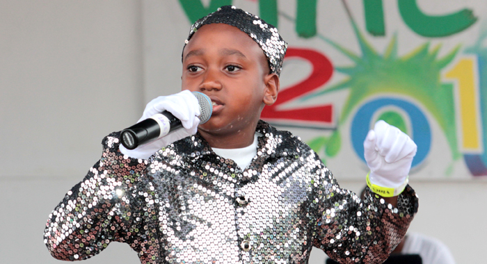 Kristian Christopher Of Layou Government Won The Primary School Calypso  Crown. (Iwn Photo)