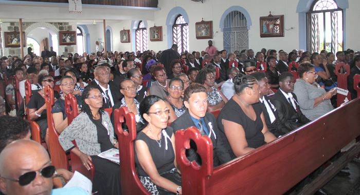Mourners At Nicole Sylvester'S Funeral On Wednesday. (Iwn Photo)