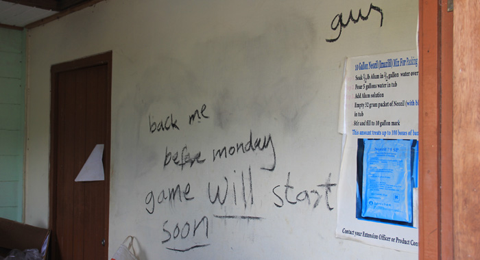 Another Of The Messages Left On Stewart'S Property. It Originally Read &Quot;Put Back Me F**King Gun Before Monday Or Game Will Start Soon&Quot;. (Iwn Photo)