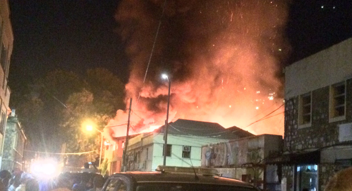 The Fire Was The Second In Kingstown In A Week. (Iwn Photo)