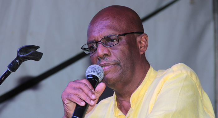 Leader Of The Opposition, Arnhim Eustace, Speaking At The Ndp Rally In Campden Park. (Iwn Photo)