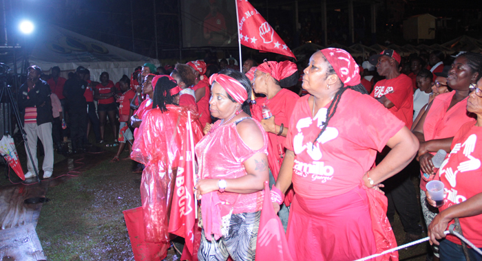 Persons At The Rally Listen To Phillips' Address.  (Iwn Photo)