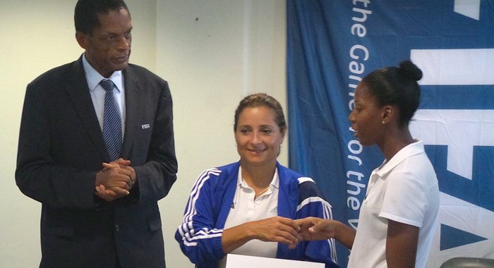Completion Of The Women Footballers Training Course.