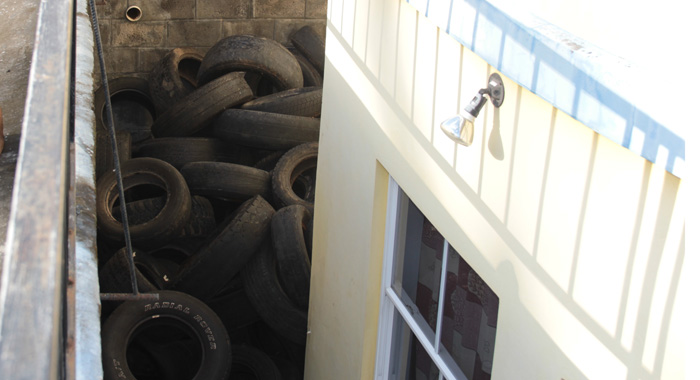 The Tyres Have Become A Breeding Ground For Mosquitos. (Iwn Photo)