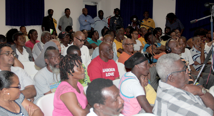 A Section Of The Audience At The Ndp'S &Quot;People'S Budget&Quot; On Monday. (Iwn Photo)