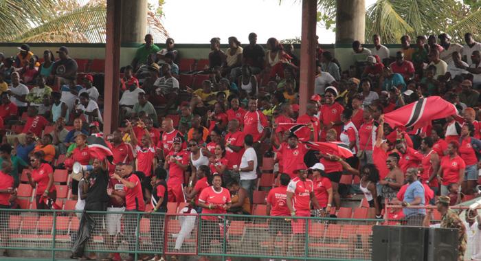 The Trini Posse React As Thier Team Equalise. (Iwn Photo)