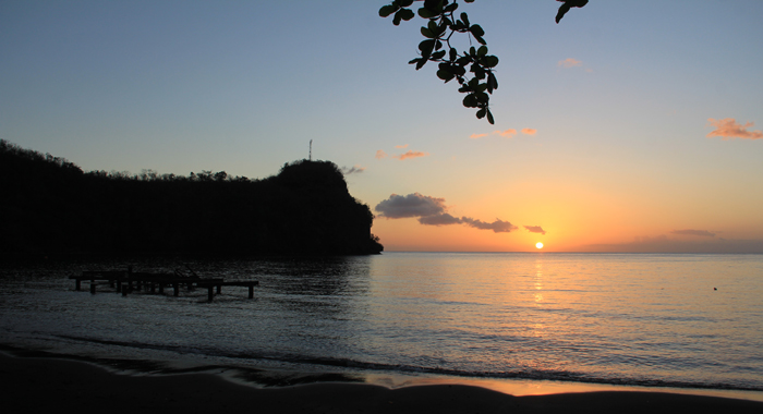 There Were No Visitors And Very Few Locals To Enjoy This Spectacular Sunset At Wallilabou Bay On Saturday. (Iwn Photo)