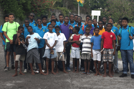 Grammar School Young Leaders During Their March 19 Visit To The Liberty Lodge Boys Training Centre.